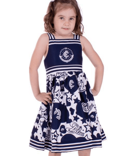 Footy Plus More Clothing Carlton Blues Stars and Stripes Girls Dress