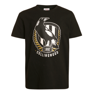 Footy Plus More Clothing Collingwood Magpies Kids Basic Logo Tee