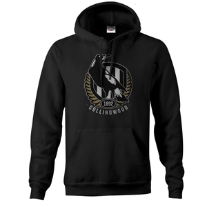 Footy Plus More Clothing Collingwood Magpies Mens Logo Hoodie