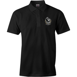 Footy Plus More Clothing Collingwood Magpies Mens logo Polo