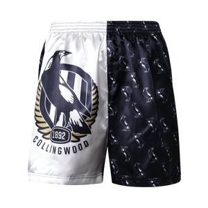 Collingwood Magpies Youth Satin Boxer Shorts