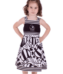 Footy Plus More Clothing Collingwood Magpies Stars and stripes Girls Dress