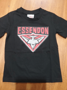 Footy Plus More Clothing Essendon Bombers Kids Basic Logo Tee