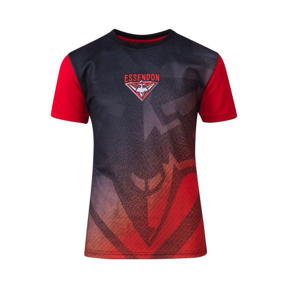 Footy Plus More Clothing Essendon Bombers Youth Sublimated Tee