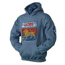 Footy Plus More Clothing FITZROY LIONS RETRO MENS HOODIE