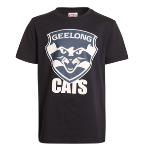 Footy Plus More Clothing Geelong Cats Kids Basic Logo Tee