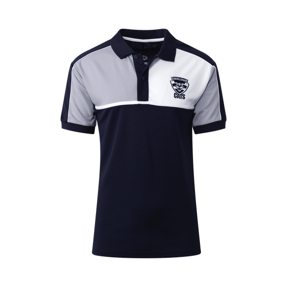 Footy Plus More Clothing Geelong Cats Mens Premium Polo 2019