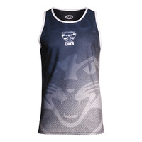 Footy Plus More Clothing Geelong Cats Mens Premium Singlet