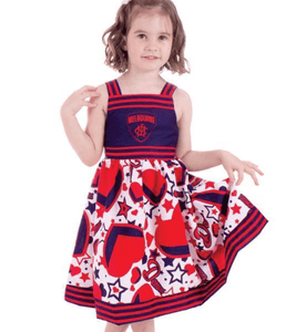 Footy Plus More Clothing Melbourne demons Stars and Stripes Girls Dress