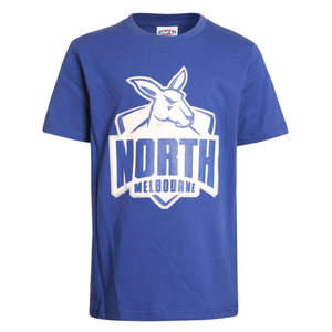Footy Plus More Clothing North Melbourne Kangaroos Kids Basic Logo Tee
