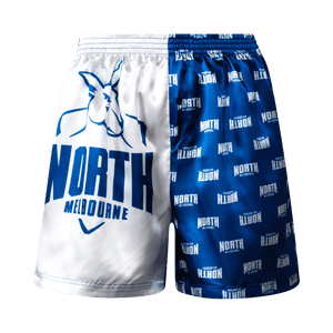 North Melbourne Kangaroos Youth Satin Boxer Shorts