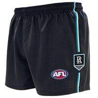 Footy Plus More Clothing Port Adelaide Power Mens Baggy Footy Shorts Featuring Team Logo