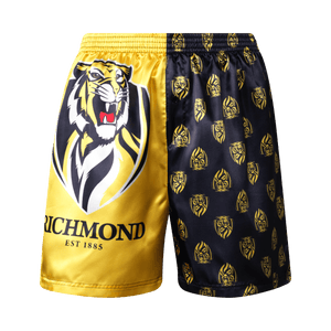 Richmond Tigers Youth Satin Boxer Shorts