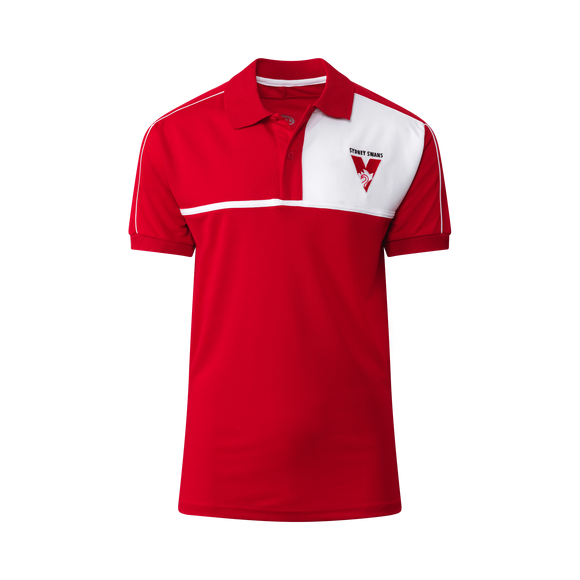 Footy Plus More Clothing Sydney Swans Mens Premium Polo 2019