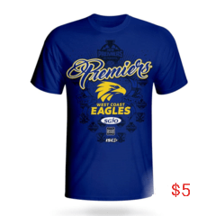 Footy Plus More Clothing West Coast Eagles Youth 2018 Premiers Tee