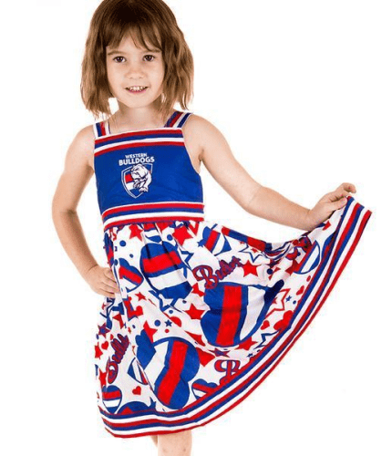 Footy Plus More Clothing Western Bulldogs Stars and Stripes Girls Dress
