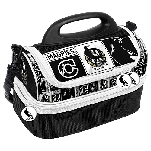 Footy Plus More cooler bag Collingwood Magpies Dome Lunch Cooler Bag