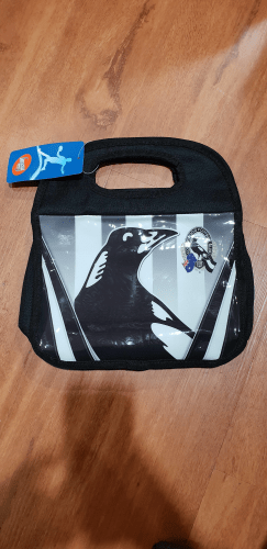 Footy Plus More cooler bag Collingwood magpies single section lunch bag