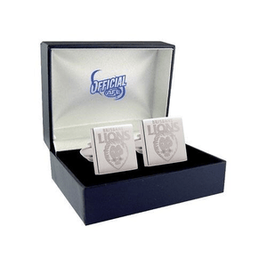 Footy Plus More Cufflinks Brisbane Lions Etched Logo Cufflinks