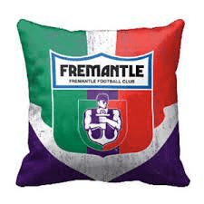 Footy Plus More Cushion Fremantle Dockers 1st 18 cushion Retro logo