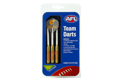 Footy Plus More Darts Giants GWS Giants Darts 3PCE