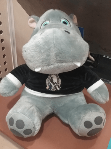 Footy Plus More DOOR STOP Collingwood Magpies Hippo Doorstop