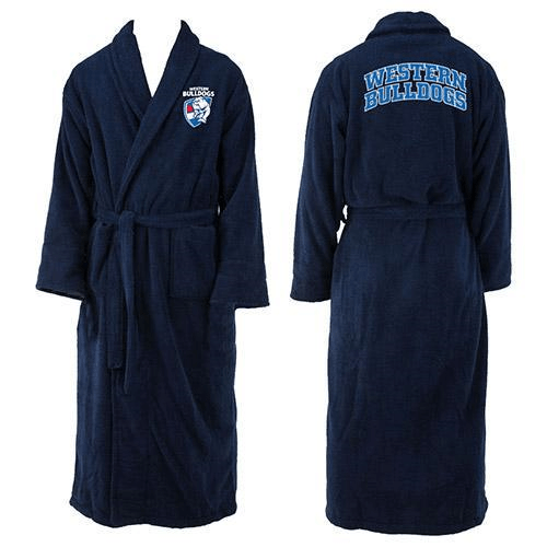 Footy Plus More Dressing gown Western Bulldogs Dressing Gown