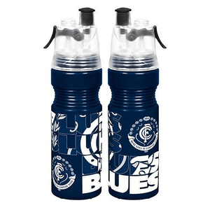 Footy Plus More DRINK BOTTLES Carlton Blues Misting Water Bottle