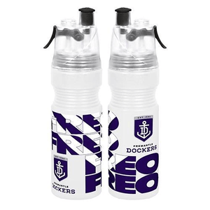 Footy Plus More DRINK BOTTLES Fremantle DockersMisting Water Bottle