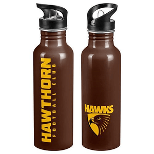 Footy Plus More DRINK BOTTLES Hawthorn Hawks Aluminium Drink Bottle
