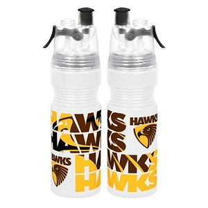 Footy Plus More DRINK BOTTLES Hawthorn Hawks Misting Water Bottle