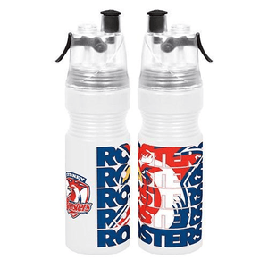 Footy Plus More DRINK BOTTLES Sydney Roosters Misting Water Bottle