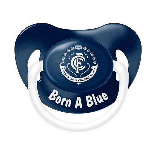 Footy Plus More dummy Carlton Blues Infant Dummy
