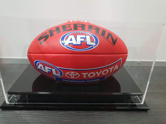 Footy Plus More event Trent Cotchin Personally Signed Sherrin Match Ball Plus Meet,Greet and Photo Package