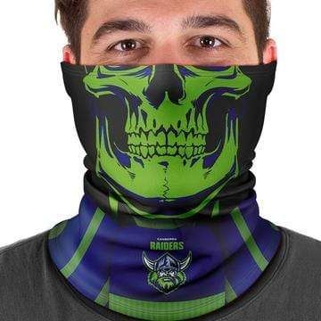 Footy Plus More Face Mask Canberra Raiders Multi Scarf Bandana