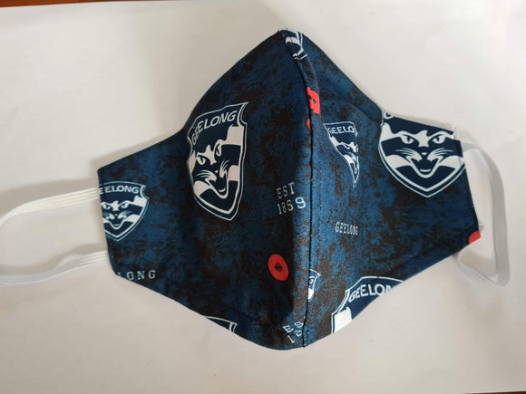 Geelong Cats Face Mask Footy Plus More