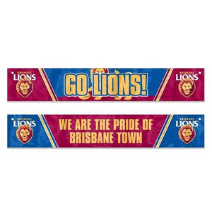Footy Plus More Flag Brisbane Lions Window Banner Flag