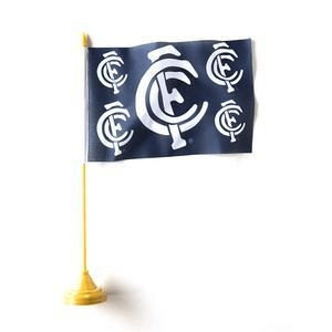 Footy Plus More Flag Carlton Blues Desk Flag