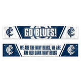 Footy Plus More Flag Carlton Blues Window Banner Flag