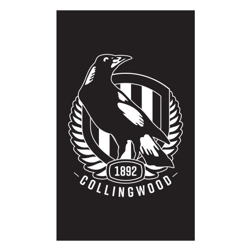 Footy Plus More Flag Collingwood Magpies Supporter Flag