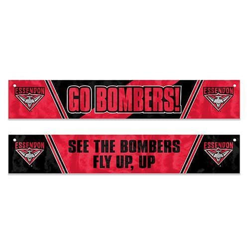 Footy Plus More Flag Essendon Bombers Window Banner Flag