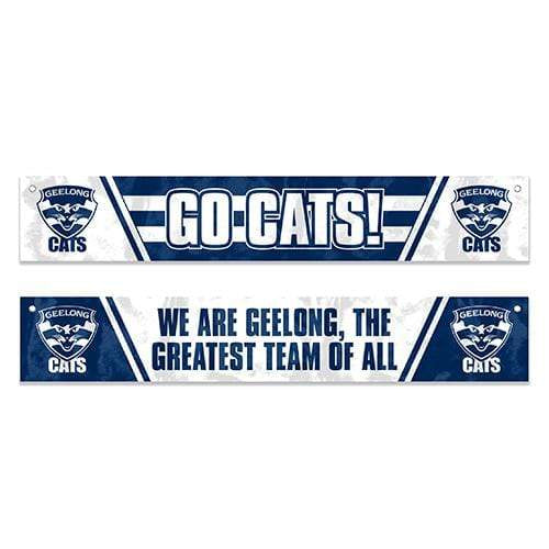 Geelong Cats Window Banner Flag Footy Plus More