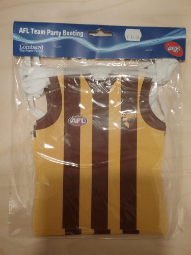 Footy Plus More Flag Hawthorn Hawks Party Bunting Flags
