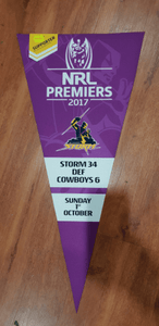 Footy Plus More Flag Melbourne Storm Premiers 2017 Bunting Flag