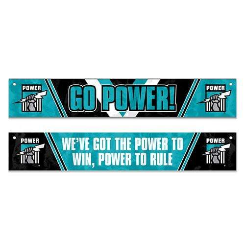 Footy Plus More Flag Port Adelaide Power Window Banner Flag