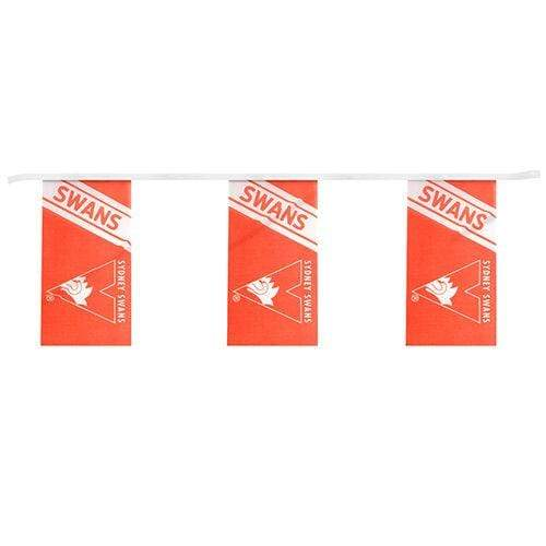 Footy Plus More Flag Sydney Swans Bunting