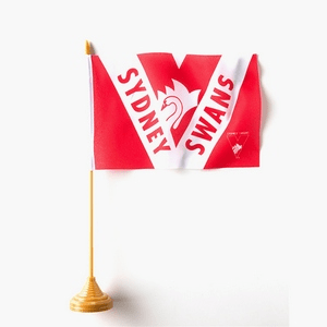 Footy Plus More Flag Sydney Swans Desk Flag