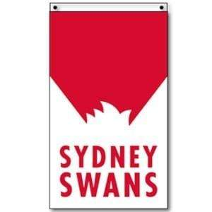 Footy Plus More Flag Sydney Swans Supporter Flag 90 x 150cm