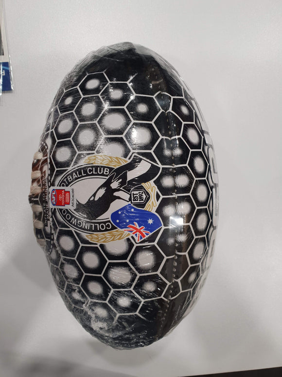 Footy Plus More Football Collingwood Magpies Size 2 Honeycomb Football