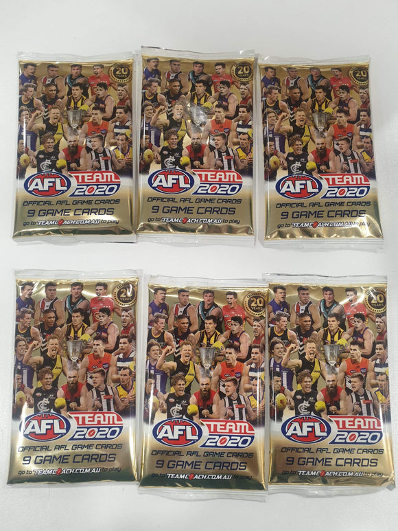 Footy Plus More Footy Cards AFL Team Coach 2020 Footy Cards Bulk Pack